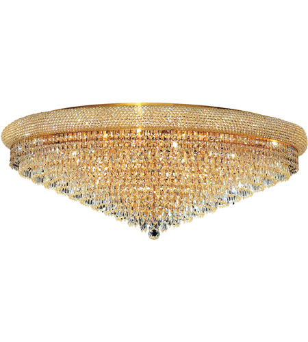 Elegant Lighting 1802F42G/EC Primo 30 Light 42 inch Gold Flush Mount Ceiling Light in Elegant Cut photo