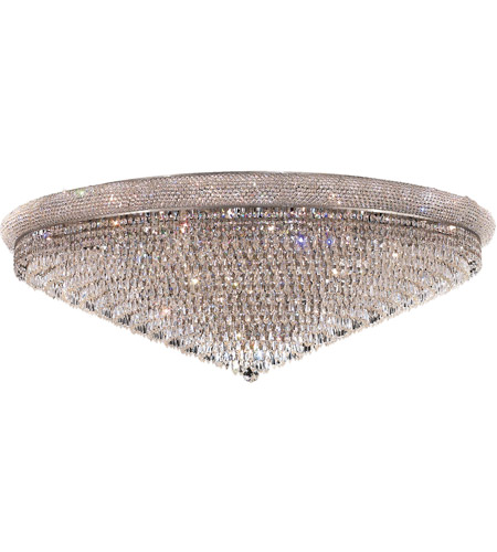 Elegant Lighting 1802F48C/EC Primo 33 Light 48 inch Chrome Flush Mount Ceiling Light in Elegant Cut photo