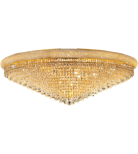 Elegant Lighting Primo 33 Light Flush Mount in Gold with Royal Cut Clear Crystal 1802F48G/RC photo