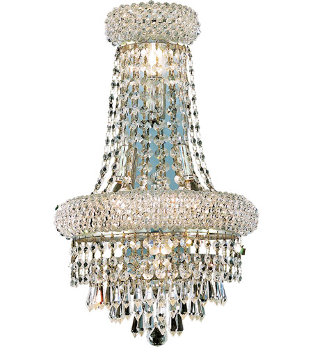 Elegant Lighting Primo 4 Light Wall Sconce in Silver and Clear Mirror with Royal Cut Clear Crystal 1802W12SC/RC photo