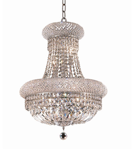 Elegant Lighting Primo 14 Light Dining Chandelier in Chrome with Royal Cut Clear Crystal 1803D20C/RC photo