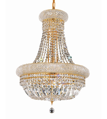 Elegant Lighting 1803D20G/RC Primo 14 Light 20 inch Gold Dining Chandelier Ceiling Light in Royal Cut photo