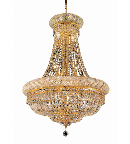 Elegant Lighting 1803D24G/RC Primo 14 Light 24 inch Gold Dining Chandelier Ceiling Light in Royal Cut photo