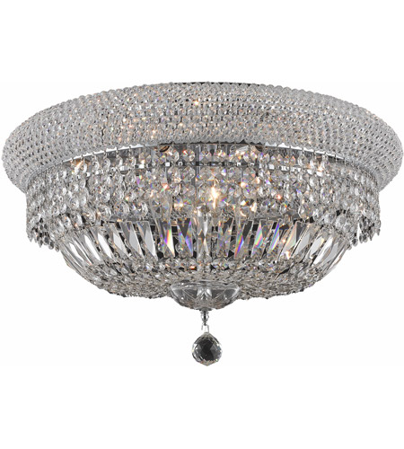 Elegant Lighting Primo 10 Light Flush Mount in Chrome with Spectra Swarovski Clear Crystal 1803F20C/SA photo