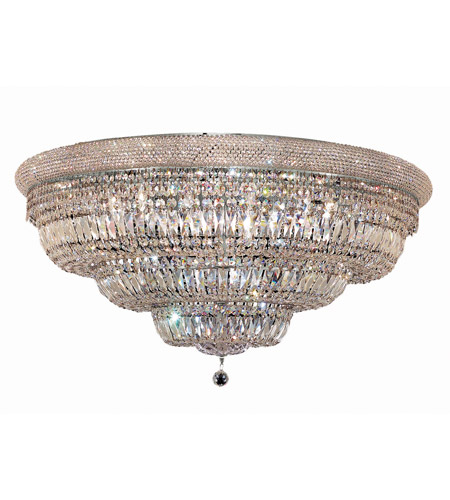 Elegant Lighting 1803F42C/SA Primo 30 Light 42 inch Chrome Flush Mount Ceiling Light in Spectra Swarovski photo