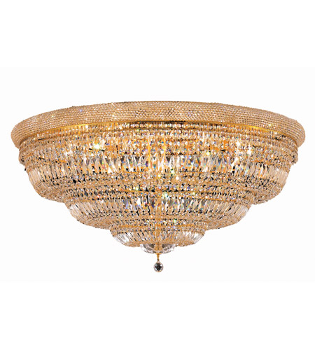 Elegant Lighting Primo 33 Light Flush Mount in Gold with Royal Cut Clear Crystal 1803F48G/RC photo