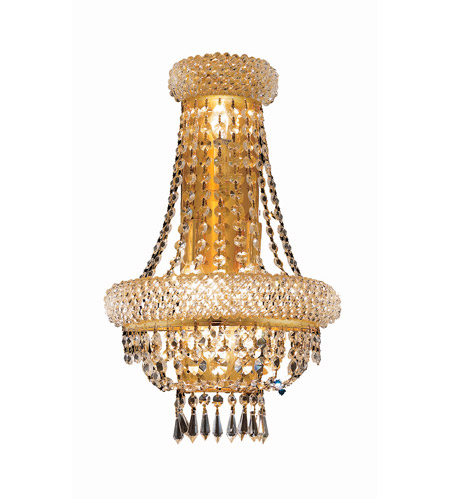 Elegant Lighting Primo 4 Light Wall Sconce in Gold with Swarovski Strass Clear Crystal 1803W12SG/SS photo