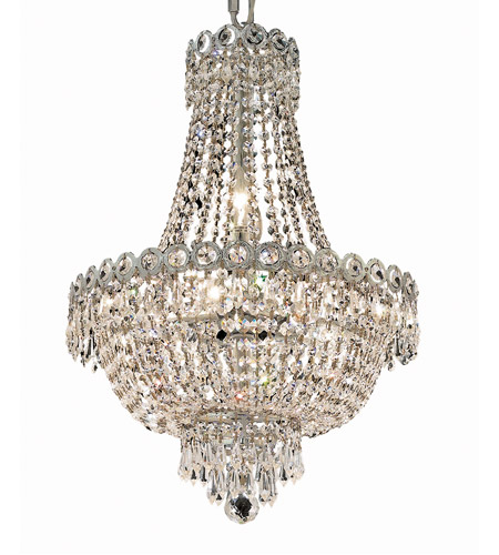 Elegant Lighting Century 8 Light Dining Chandelier in Chrome with Spectra Swarovski Clear Crystal 1900D16C/SA photo