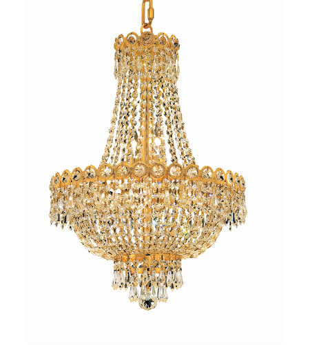 Elegant Lighting Century 8 Light Dining Chandelier in Gold with Elegant Cut Clear Crystal 1900D16G/EC photo
