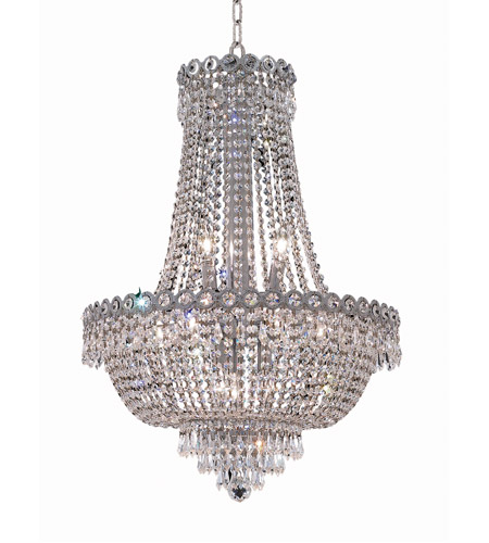 Elegant Lighting 1900D20C/RC Century 12 Light 20 inch Chrome Dining Chandelier Ceiling Light in Royal Cut photo