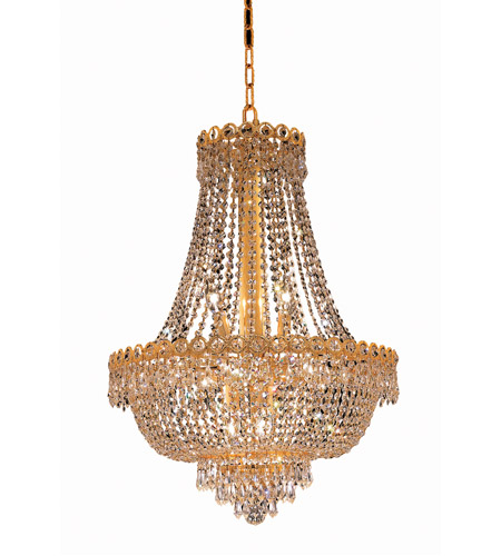 Elegant Lighting V1900D20G/EC Century 12 Light 20 inch Gold Dining Chandelier Ceiling Light in Elegant Cut photo