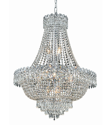 Elegant Lighting 1900D24C/SS Century 12 Light 24 inch Chrome Dining Chandelier Ceiling Light in Swarovski Strass photo