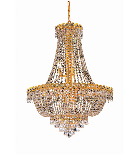 Elegant Lighting V1900D24G/SA Century 12 Light 24 inch Gold Dining Chandelier Ceiling Light in Spectra Swarovski photo