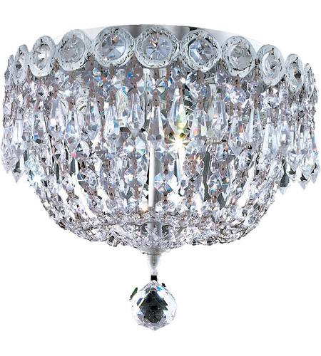Elegant Lighting 1900F10C/RC Century 3 Light 10 inch Chrome Flush Mount Ceiling Light in Royal Cut photo