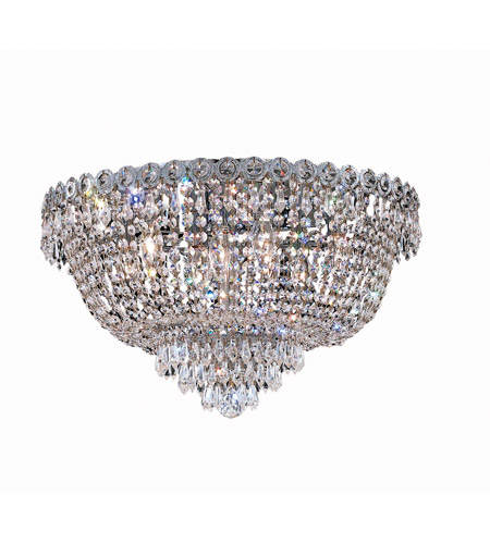 Elegant Lighting Century 9 Light Flush Mount in Chrome with Swarovski Strass Clear Crystal 1900F20C/SS photo