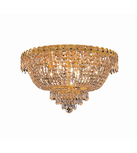 Elegant Lighting V1900F20G/SS Century 9 Light 20 inch Gold Flush Mount Ceiling Light in Swarovski Strass photo