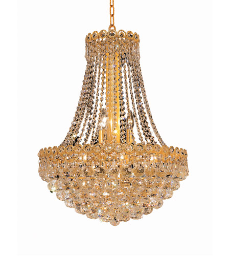 Elegant Lighting Century 12 Light Dining Chandelier in Gold with Elegant Cut Clear Crystal 1901D20G/EC photo