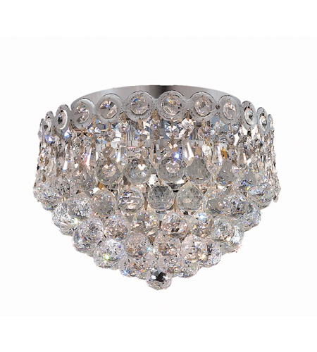 Elegant Lighting Century 3 Light Flush Mount in Chrome with Royal Cut Clear Crystal 1901F10C/RC photo