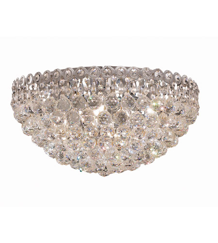 Elegant Lighting Century 9 Light Flush Mount in Chrome with Swarovski Strass Clear Crystal 1901F20C/SS photo