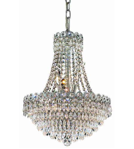 Elegant Lighting 1902D16C/EC Century 8 Light 16 inch Chrome Dining Chandelier Ceiling Light in Elegant Cut photo