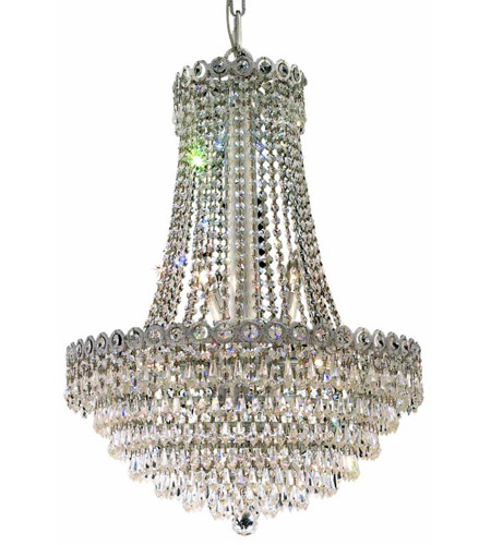Elegant Lighting 1902D20C/RC Century 12 Light 20 inch Chrome Dining Chandelier Ceiling Light in Royal Cut photo