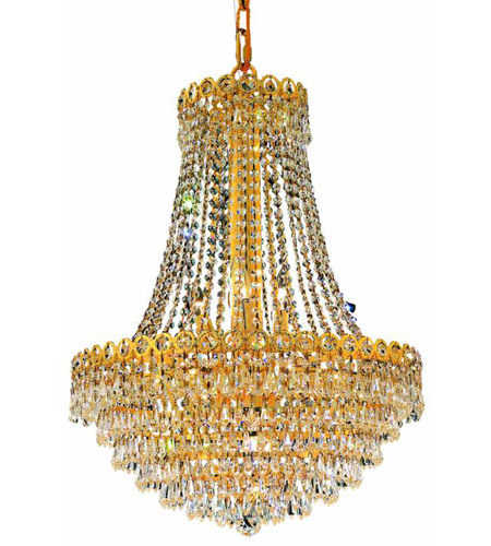 Elegant Lighting Century 12 Light Dining Chandelier in Gold with Swarovski Strass Clear Crystal 1902D20G/SS photo