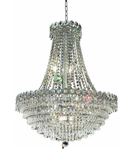 Elegant Lighting Century 12 Light Dining Chandelier in Chrome with Elegant Cut Clear Crystal 1902D24C/EC photo