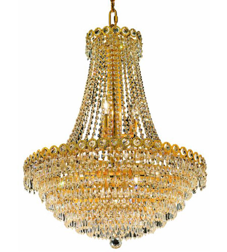 Elegant Lighting 1902D24G/EC Century 12 Light 24 inch Gold Dining Chandelier Ceiling Light in Elegant Cut photo