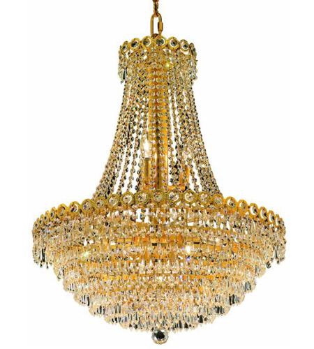Elegant Lighting Century 12 Light Dining Chandelier in Gold with Elegant Cut Clear Crystal 1902D24G/EC photo