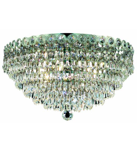 Elegant Lighting Century 4 Light Flush Mount in Chrome with Royal Cut Clear Crystal 1902F14C/RC photo