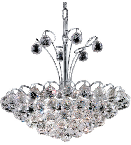 Elegant Lighting Godiva 8 Light Dining Chandelier in Chrome with Spectra Swarovski Clear Crystal 2001D18C/SA photo