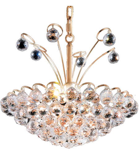Elegant Lighting 2001D18G/RC Godiva 8 Light 18 inch Gold Dining Chandelier Ceiling Light in Royal Cut photo