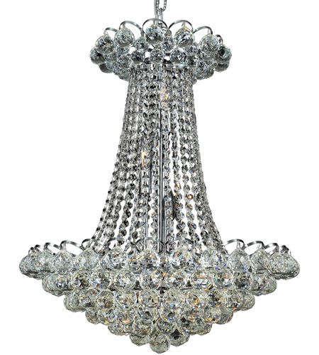Elegant Lighting Godiva 13 Light Dining Chandelier in Chrome with Royal Cut Clear Crystal 2001D21C/RC photo