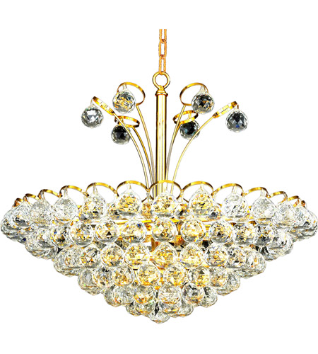 Elegant Lighting Godiva 8 Light Dining Chandelier in Gold with Swarovski Strass Clear Crystal 2001D22G/SS photo