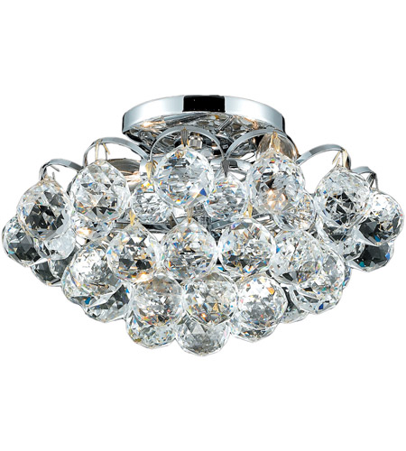 Elegant Lighting Godiva 3 Light Flush Mount in Chrome with Royal Cut Clear Crystal 2001F12C/RC photo