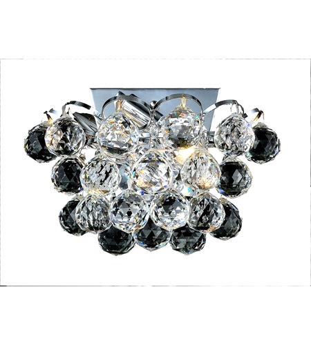 Elegant Lighting Godiva 2 Light Wall Sconce in Chrome with Swarovski Strass Clear Crystal 2001W10C/SS photo