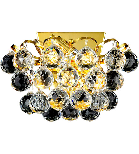 Elegant Lighting Godiva 2 Light Wall Sconce in Gold with Swarovski Strass Clear Crystal 2001W10G/SS photo