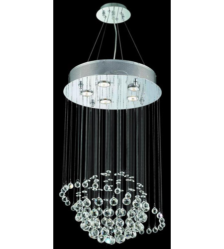 Elegant Lighting Galaxy 5 Light Dining Chandelier in Chrome with Elegant Cut Clear Crystal 2004D16C/EC photo