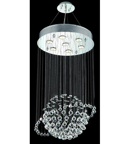 Elegant Lighting Galaxy 7 Light Dining Chandelier in Chrome with Royal Cut Clear Crystal 2004D18C/RC photo