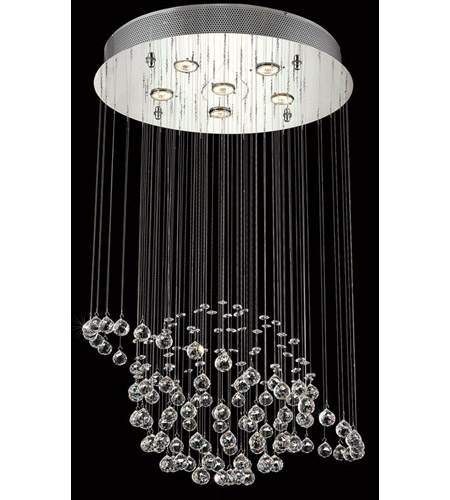 Elegant Lighting Galaxy 6 Light Dining Chandelier in Chrome with Elegant Cut Clear Crystal 2004D22C/EC photo