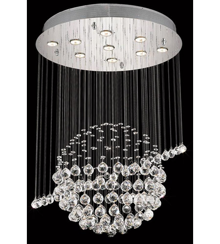 Elegant Lighting Galaxy 7 Light Dining Chandelier in Chrome with Spectra Swarovski Clear Crystal 2004D26C/SA photo