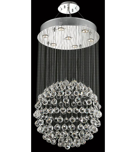 Elegant Lighting Galaxy 7 Light Dining Chandelier in Chrome with Elegant Cut Clear Crystal 2005D20C/EC photo