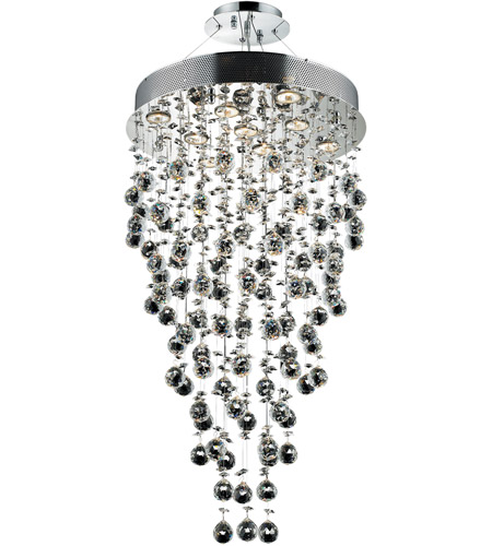 Elegant Lighting Galaxy 9 Light Chandelier in Chrome with Elegant Cut Clear Crystals 2006D20C/EC(LED) photo