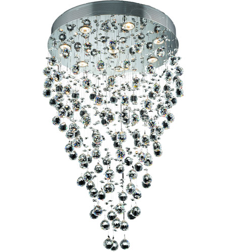 Elegant Lighting 2006D24C/EC(LED) Galaxy 8 Light 24 inch Chrome Chandelier Ceiling Light in LED, Elegant Cut photo