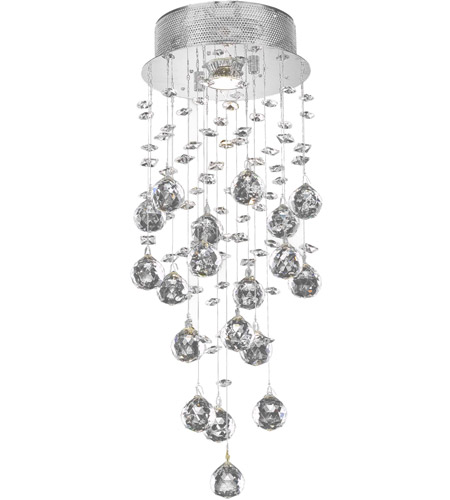Elegant Lighting 2006F8C/EC Galaxy 1 Light 8 inch Chrome Flush Mount Ceiling Light in Elegant Cut photo
