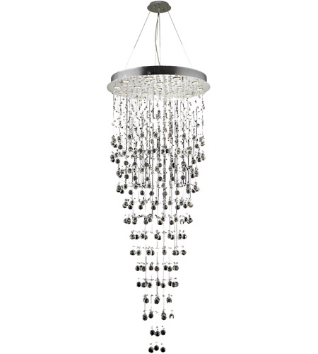 Elegant Lighting 2006G30C/SA(LED) Galaxy 16 Light 30 inch Chrome Chandelier Ceiling Light in LED, Spectra Swarovski photo