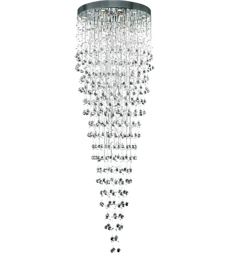 Elegant Lighting 2006G32C/EC(LED) Galaxy 16 Light 32 inch Chrome Chandelier Ceiling Light in LED, Elegant Cut photo