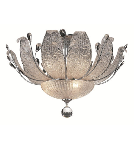 Elegant Lighting Orchid 11 Light Flush Mount in Chrome with Elegant Cut Clear Crystal 2010F27C/EC photo