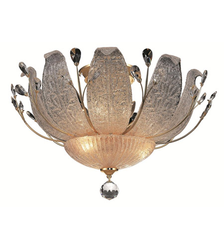 Elegant Lighting Orchid 11 Light Flush Mount in Gold with Spectra Swarovski Clear Crystal 2010F27G/SA photo