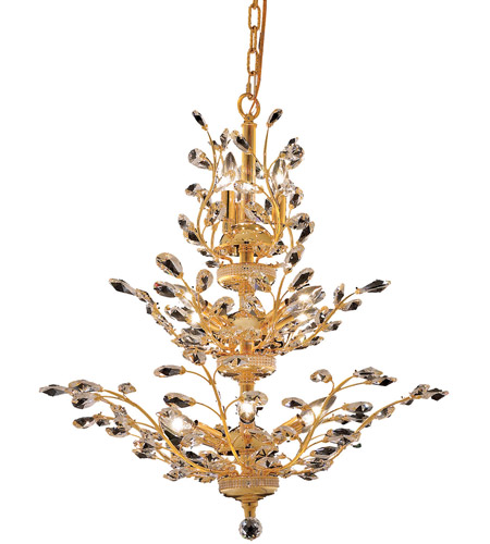 Elegant Lighting Orchid 13 Light Dining Chandelier in Gold with Royal Cut Clear Crystal 2011D27G/RC photo